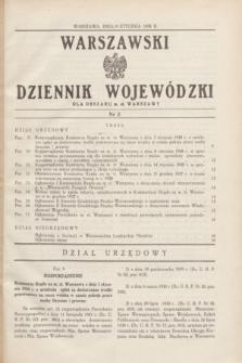 Warszawski Dziennik Wojewódzki dla Obszaru m. st. Warszawy.1938, nr 2 (19 stycznia)