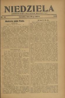 Niedziela : tygodniowy dodatek bezpłatny.1928, nr 13 (25 marca)