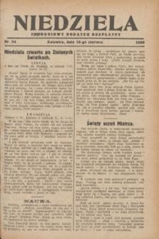 Niedziela : tygodniowy dodatek bezpłatny.1929, nr 24 (16 czerwca)