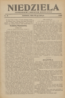Niedziela : tygodniowy dodatek bezpłatny.1930, nr 8 (23 lutego)
