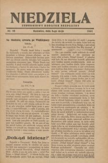 Niedziela : tygodniowy dodatek bezpłatny.1931, nr 18 (3 maja)