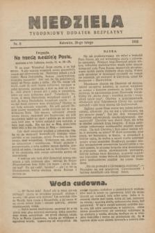 Niedziela : tygodniowy dodatek bezpłatny.1932, nr 8 (28 lutego)