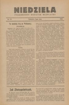 Niedziela : tygodniowy dodatek bezpłatny.1932, nr 18 (8 maja)