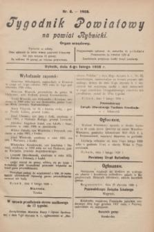 Tygodnik Powiatowy na powiat Rybnicki : organ urzędowy.1928, nr 5 (4 lutego)