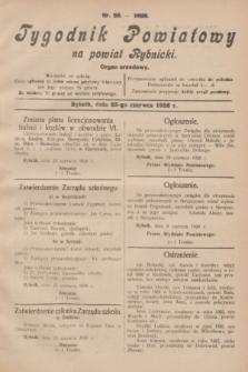 Tygodnik Powiatowy na powiat Rybnicki : organ urzędowy.1928, nr 25 (23 czerwca)