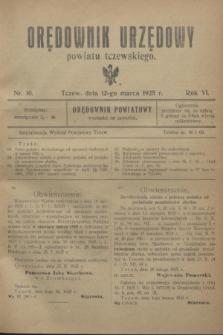 Orędownik Urzędowy powiatu tczewskiego. R.6, nr 10 (12 marca 1925)