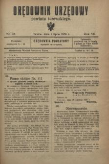Orędownik Urzędowy powiatu tczewskiego. R.7, nr 32 (1 lipca 1926)