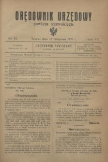 Orędownik Urzędowy powiatu tczewskiego. R.7, nr 53 (12 listopada 1926)