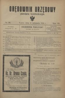 Orędownik Urzędowy powiatu tczewskiego. R.7, nr 54 (19 listopada 1926)