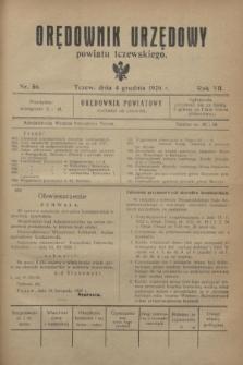 Orędownik Urzędowy powiatu tczewskiego. R.7, nr 56 (4 grudnia 1926)