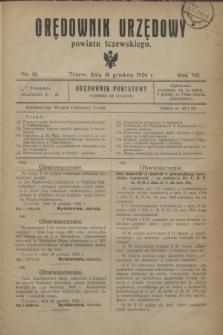 Orędownik Urzędowy powiatu tczewskiego. R.7, nr 61 (31 grudnia 1926)