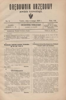 Orędownik Urzędowy powiatu tczewskiego. R.8[!], nr 4 (4 lutego 1928)