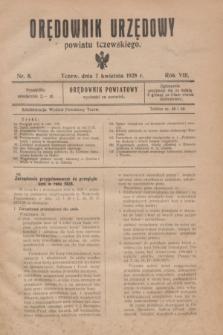 Orędownik Urzędowy powiatu tczewskiego. R.8[!], nr 8 (7 kwietnia 1928)