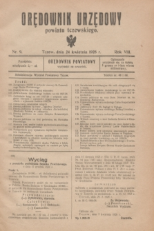 Orędownik Urzędowy powiatu tczewskiego. R.8[!], nr 9 (24 kwietnia 1928)