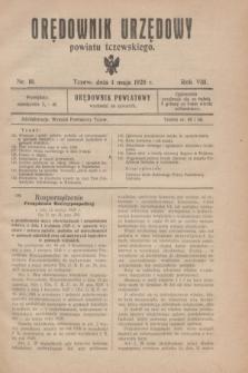 Orędownik Urzędowy powiatu tczewskiego. R.8[!], nr 10 (1 maja 1928)