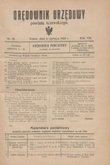 Orędownik Urzędowy powiatu tczewskiego. R.8[!], nr 12 (6 czerwca 1928)