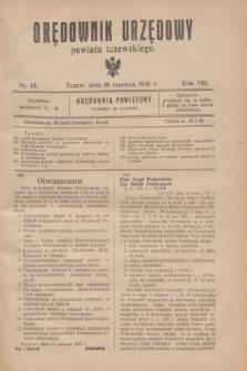 Orędownik Urzędowy powiatu tczewskiego. R.8[!], nr 13 (18 czerwca 1928)