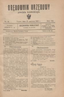 Orędownik Urzędowy powiatu tczewskiego. R.8[!], nr 14 (27 czerwca 1928)