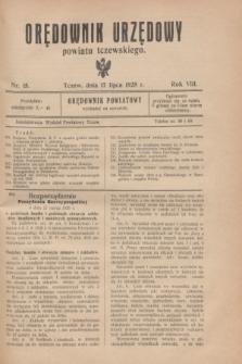 Orędownik Urzędowy powiatu tczewskiego. R.8[!], nr 15 (17 lipca 1928)
