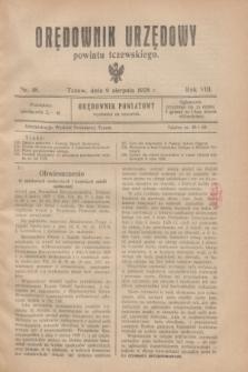 Orędownik Urzędowy powiatu tczewskiego. R.8[!], nr 18 (9 sierpnia 1928)
