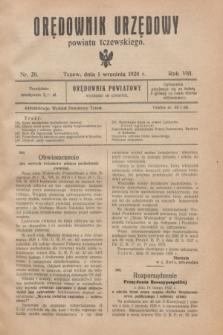 Orędownik Urzędowy powiatu tczewskiego. R.8[!], nr 20 (1 września 1928)