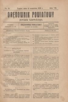Orędownik Urzędowy powiatu tczewskiego. R.8[!], nr 21 (13 września 1928)