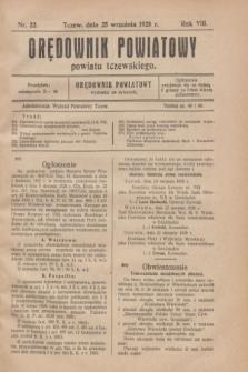 Orędownik Urzędowy powiatu tczewskiego. R.8[!], nr 22 (25 września 1928)