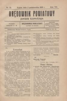 Orędownik Powiatowy powiatu tczewskiego. R.8[!], nr 23 (2 października 1928)