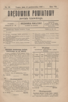 Orędownik Powiatowy powiatu tczewskiego. R.8[!], nr 25 (31 października 1928)