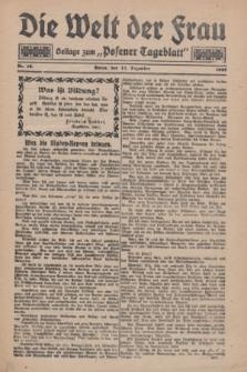 "Die Welt der Frau : Beilage zum ""Posener Tageblatt"".1927, Nr. 25 (11 Dezember)"