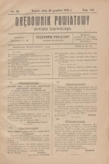 Orędownik Urzędowy powiatu tczewskiego. R.8[!], nr 30 (20 grudnia 1928)
