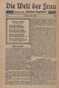 """Die Welt der Frau : Beilage zum """"Posener Tageblatt"""".1928, Nr. 2 (22 Januar)"""