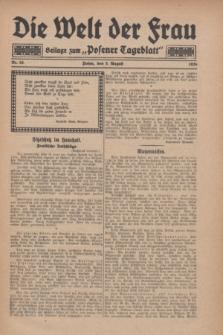 """Die Welt der Frau : Beilage zum """"Posener Tageblatt"""".1928, Nr. 16 (5 August)"""