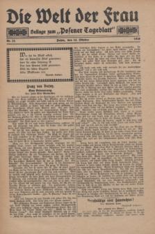 "Die Welt der Frau : Beilage zum ""Posener Tageblatt"".1928, Nr. 21 (14 Oktober)"