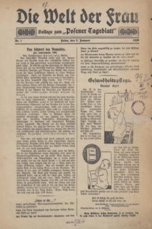 """Die Welt der Frau : Beilage zum """"Posener Tageblatt"""".1930, Nr. 1 (5 Januaer)"""