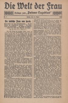 """Die Welt der Frau : Beilage zum """"Posener Tageblatt"""".1930, Nr. 8 (13 April)"""