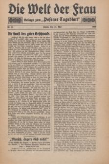"Die Welt der Frau : Beilage zum ""Posener Tageblatt"".1930, Nr. 11 (25 Mai)"