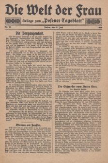 "Die Welt der Frau : Beilage zum ""Posener Tageblatt"".1930, Nr. 14 (6 Juli)"
