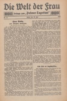 "Die Welt der Frau : Beilage zum ""Posener Tageblatt"".1930, Nr. 15 (20 Juli)"