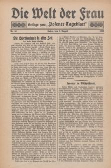 """Die Welt der Frau : Beilage zum """"Posener Tageblatt"""".1930, Nr. 16 (3 August)"""