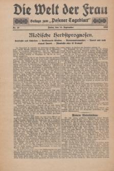 """Die Welt der Frau : Beilage zum """"Posener Tageblatt"""".1930, Nr. 19 (14 September)"""