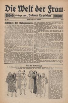 "Die Welt der Frau : Beilage zum ""Posener Tageblatt"".1930, Nr. 21 (12 Oktober)"