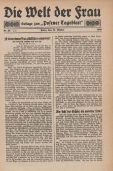 "Die Welt der Frau : Beilage zum ""Posener Tageblatt"".1930, Nr. 22 (26 Oktober)"