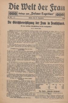 "Die Welt der Frau : Beilage zum ""Posener Tageblatt"".1930, Nr. 23 (21 Dezember)"