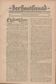 """Der Hausfreund : Unterhaltungsbeilage zum """"Ostdeutschen Volksblatt"""".1928, Nr. 2 (24 Brachmond [Juni])"""