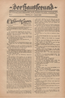 """Der Hausfreund : Unterhaltungsbeilage zum """"Ostdeutschen Volksblatt"""".1928, Nr. 3 (1 Heuert [Juli])"""