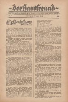 """Der Hausfreund : Unterhaltungsbeilage zum """"Ostdeutschen Volksblatt"""".1928, Nr. 5 (15 Heuert [Juli])"""