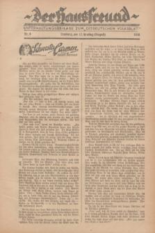 """Der Hausfreund : Unterhaltungsbeilage zum """"Ostdeutschen Volksblatt"""".1928, Nr. 9 (12 Ernting [August])"""