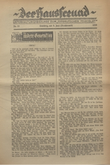 """Der Hausfreund : Unterhaltungsbeilage zum """"Ostdeutschen Volksblatt"""".1930, Nr. 23 (8 Brachmond [Juni])"""