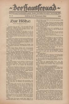 """Der Hausfreund : Unterhaltungsbeilage zum """"Ostdeutschen Volksblatt"""".1929, Nr. 21 (26 Wonnemond [Mai])"""